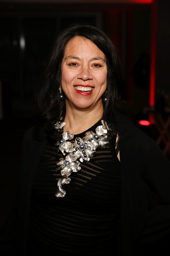 Emcee Sandra Tsing Loh poses during the Asia Society Southern California 2016 Annual Gala at the Skirball Cultural Center on May 22, 2016, in Los Angeles, California. (Photo by Ryan Miller/Capture Imaging)