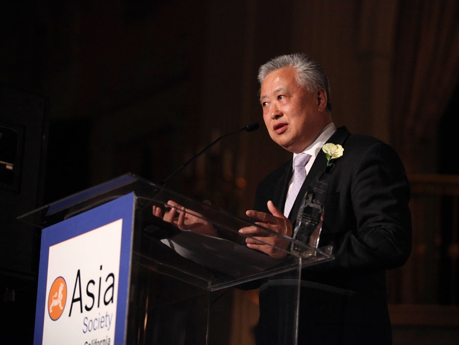 Ming Hsieh, Entrepreneur is awarded Philanthropist of the Year and speaks during the Asia Society Southern California 2014 Annual Gala held at the Millennium Biltmore Hotel on Monday, May 19, 2014, in Los Angeles, Calif. (Photo by Ryan Miller/Capture Imaging)