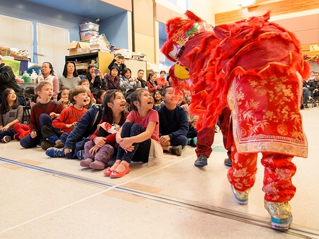 Beacon Hill International School celebrates Chinese New Year with special performances from Mandarin Immersion students at an assembly for the whole school.