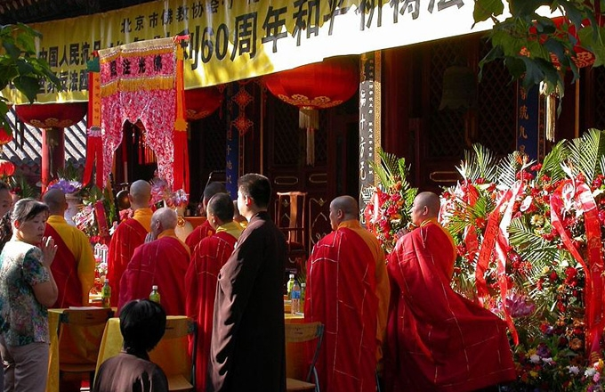 Buddhism Mass in Ghost Festival in Guanghua Temple, China.