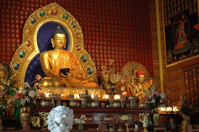 A Buddha statue in Sakya Monastery, Seattle, WA. (Wonderlane/flickr)