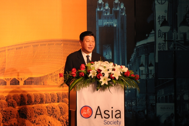 China's Vice President Xi Jingping at the 18th Asian Corporate Conference in Tianjin. (Asia Society)