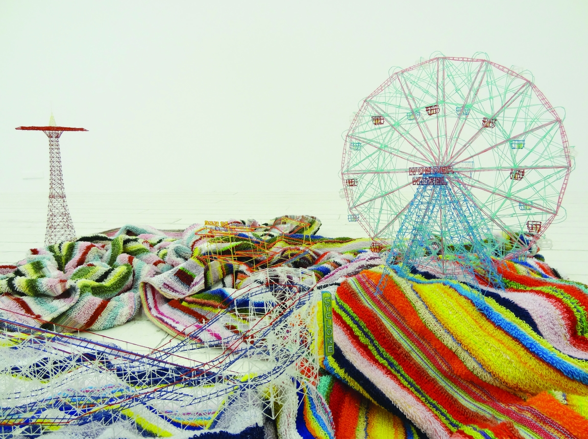 Out of Disorder (Coney Island), 2012. Beach towels. Dimensions variable. © Takahiro Iwasaki, Courtesy of ARATANIURANO