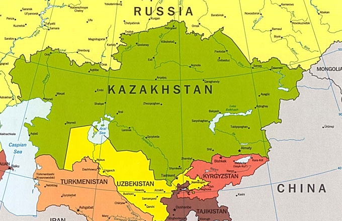 Kazakhstan Political Map.Central Asia A Political History From The 19th Century To Present