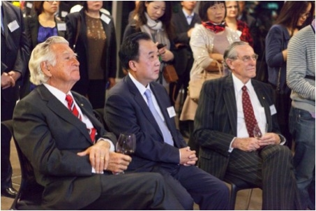 (from left): The Hon Bob Hawke AC, H.E. Mr Chen Yuming, and Richard Woolcott AC
