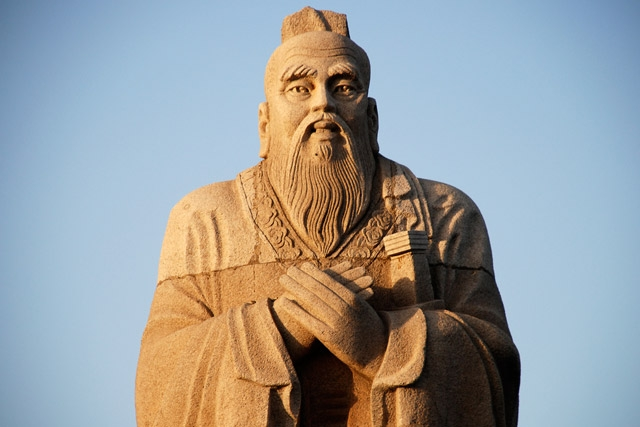 A statue of Confucius, located in Hunan, China. (robweb/flickr)