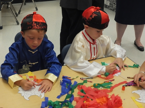 Kindergarten students during Chinese summer camp (Caesar Rodney School District/Dave Chambers)