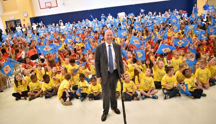 End-of-year celebration with Governor Jack Markell and more than 350 immersion students in the Caesar Rodney School District (Caesar Rodney School District/Dave Chambers)