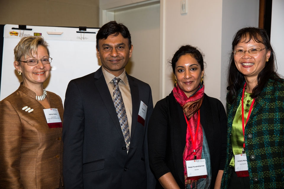 """Business Resource Groups: Reaching Across and Beyond to Multiply Impact"" with Kathryn Komsa, Vipul Sheth, Deepa Purushothanman, Kimberly Marcelis (left to right)"
