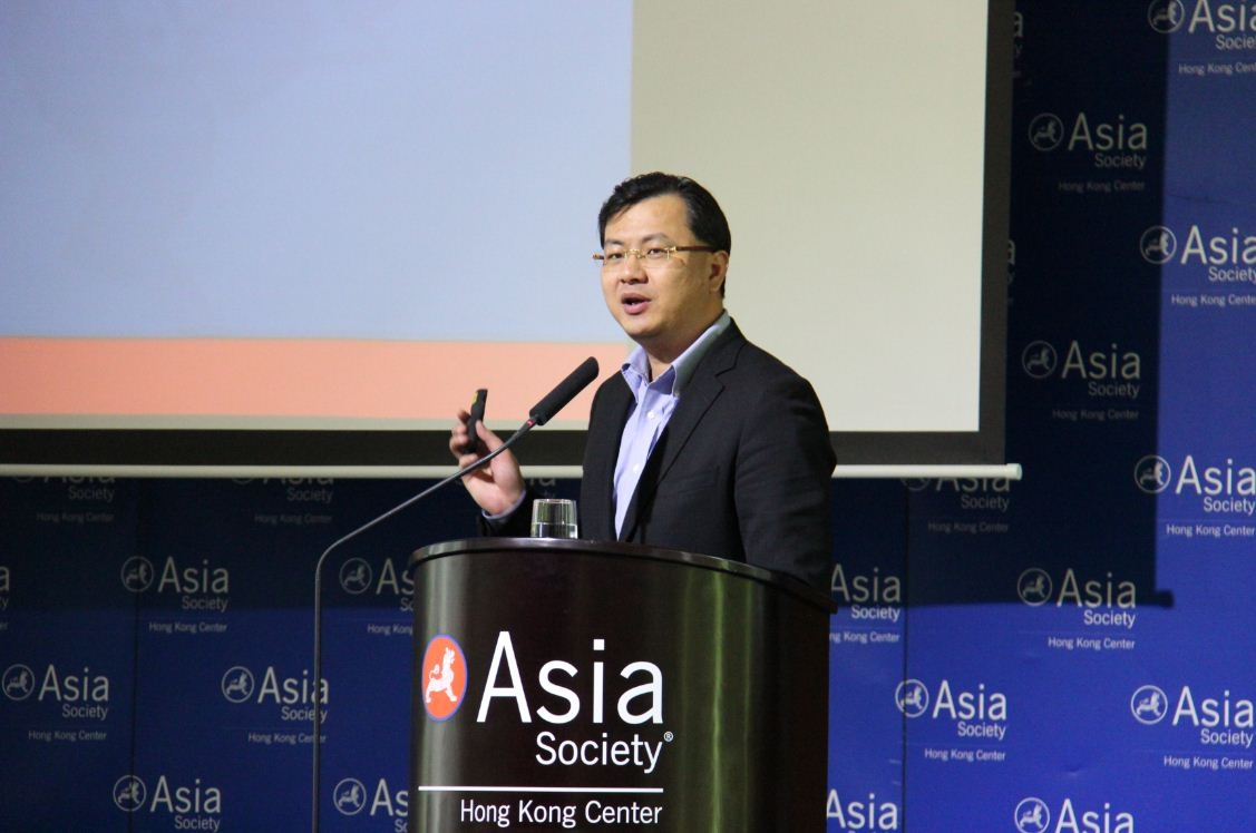 David Wei, Chairman and Founding Partner, Vision Knight Capital, and former CEO, Alibaba.com Ltd in Hong Kong on June 27, 2013. (Asia Society Hong Kong)