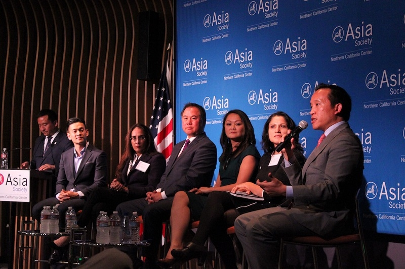 Assemblymember David Chiu (far right) represents the California State Assembly, 17th District. (Yiwen Zhang/Asia Society)