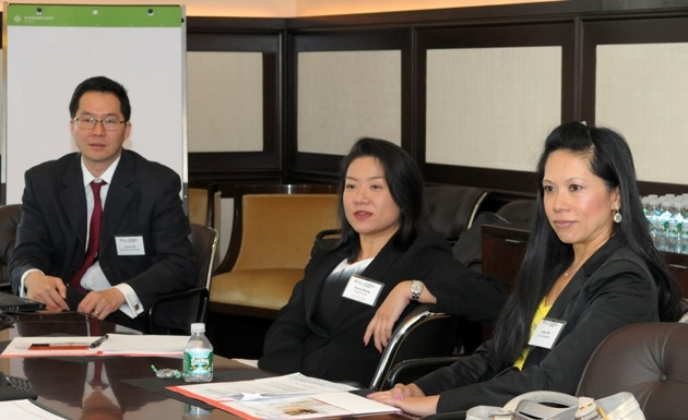 A workshop discussion on Developing Asian Women Leaders with facilitator Jessica Faye Carter of Nette Media and subject matter experts Katy Choo of General Electric Company, Christine S. Lee of PepsiCo an and Ruby Sharma of Ernst & Young LLP.