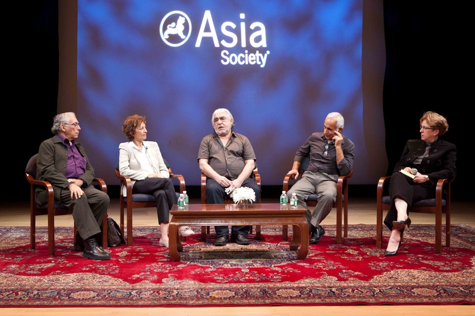 L to R: Arby Ovanessian, Mahasti Afshar, Mohammad Ghaffari, Khosro Shayesteh and Rachel Cooper at Asia Society New York on October 5, 2013.