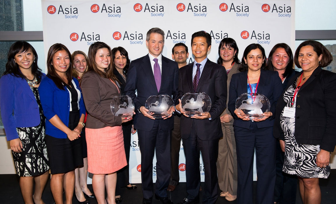 Goldman Sachs Group Photo with Awards