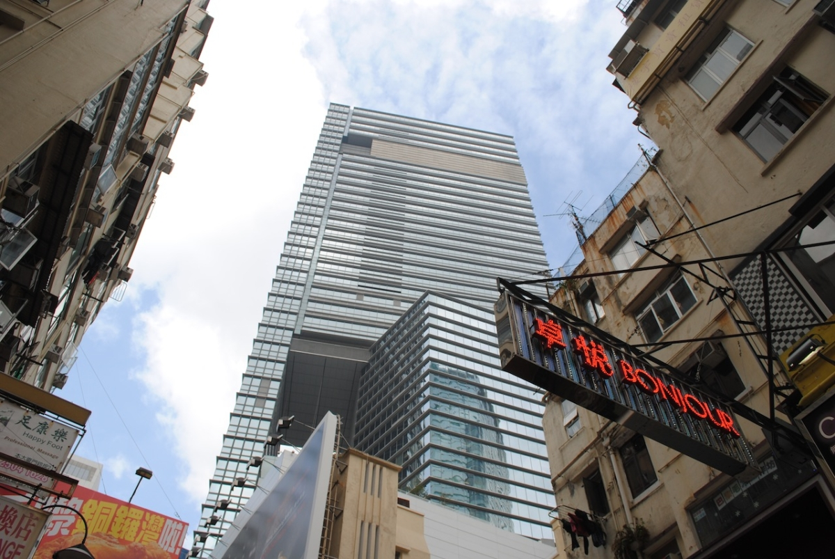 Hysan Place towers over the Causeway Bay district in Hong Kong. (Credit: Asia Society)