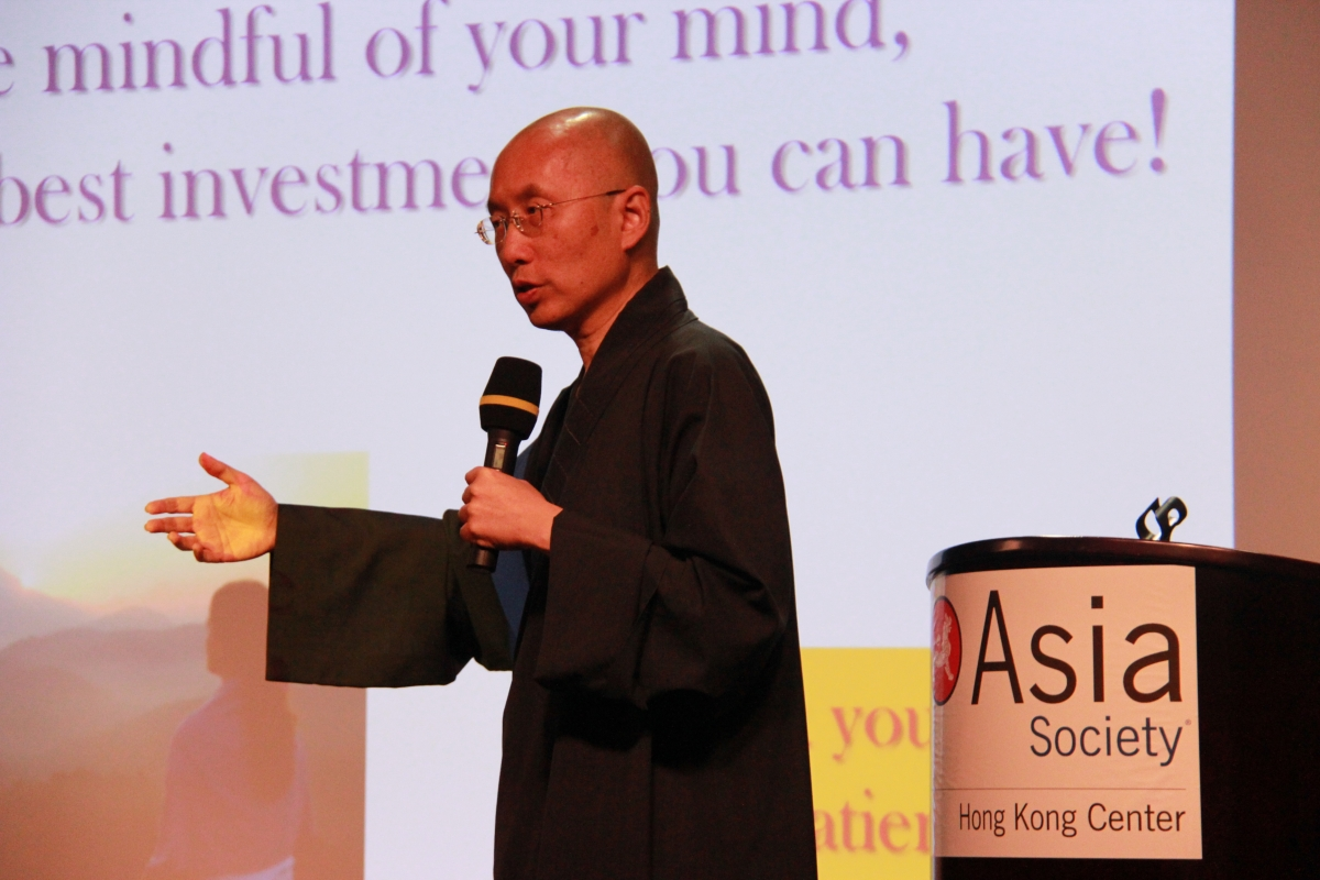 Venerable Sik Hin Hung, Acting Director at the Centre of Buddhist Studies, the University of Hong Kong, on April 13, 2012. (Asia Society Hong Kong)