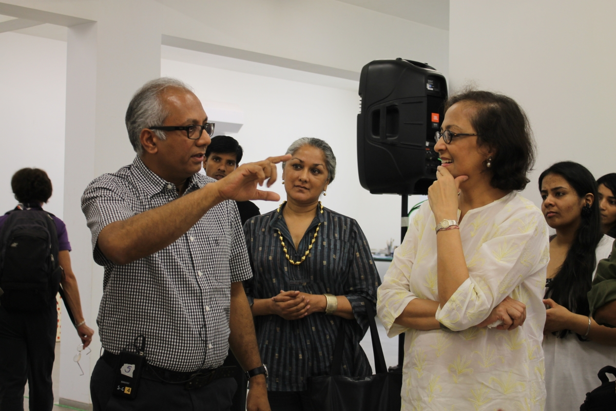 L to R: Artist Atul Dodiya and  Bunty Chand, Executive Director Asia Society India Centre. (Asia Society India Centre)