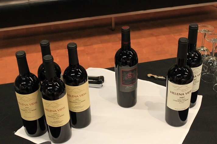 Wine tasting included a variety of exclusive red wines by Helena View Johnston Winery. (Asia Society)