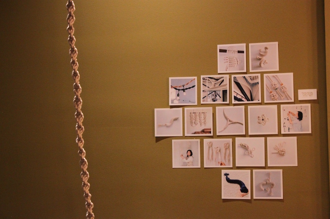Wall hangings by artist Windy Chien (Ranna Iglesias Asia Society).