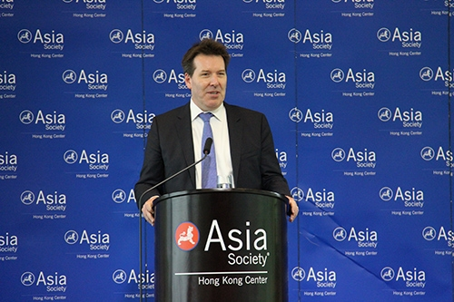 HSBC Group Chief Economist Stephen King at Asia Society Hong Kong Center on July 24, 2013. (Stephen Tong/Asia Society Hong Kong Center)