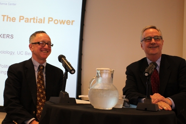 Thomas B. Gold, UC Berkeley professor and member of ASNC Advisory Board, moderated the program with Shambaugh.