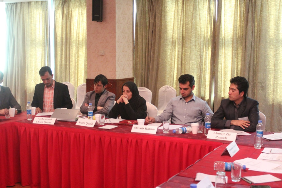 Afghan Young Leaders during one of the sessions.