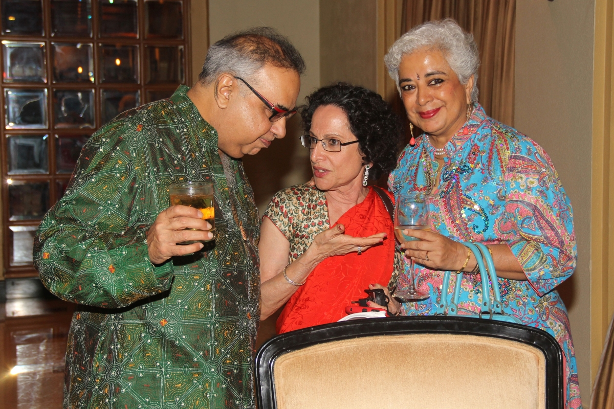 Bachi Karkaria, Literary Carnival Director (C), with friends. (Asia Society India Centre)