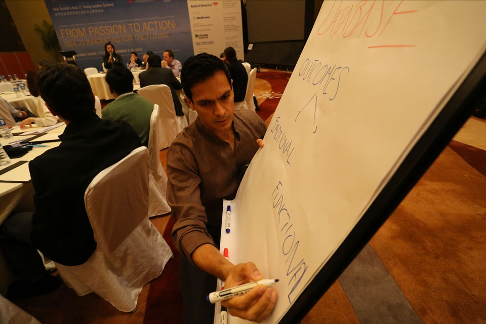 Asia 21 Young Leaders engage in a discussion about turning passion into action.