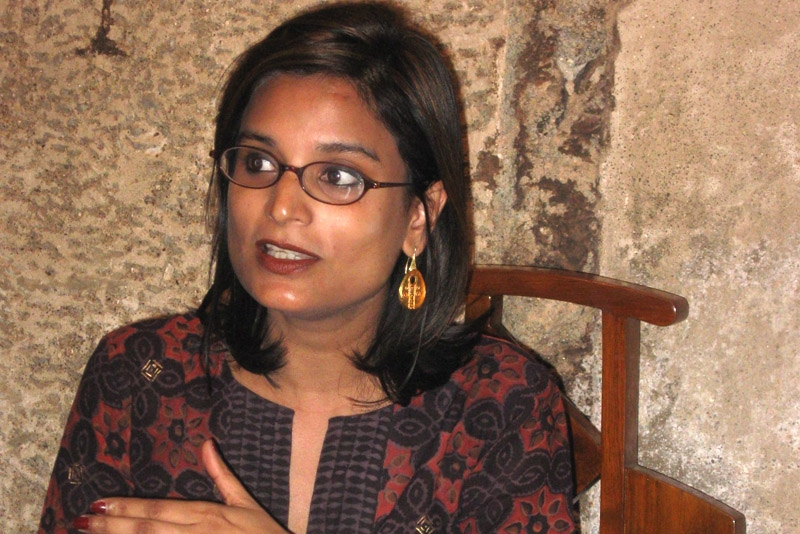 Award winning journalist and author Pallavi Aiyar discusses her two books on China and India in Mumbai on January 31, 2011.