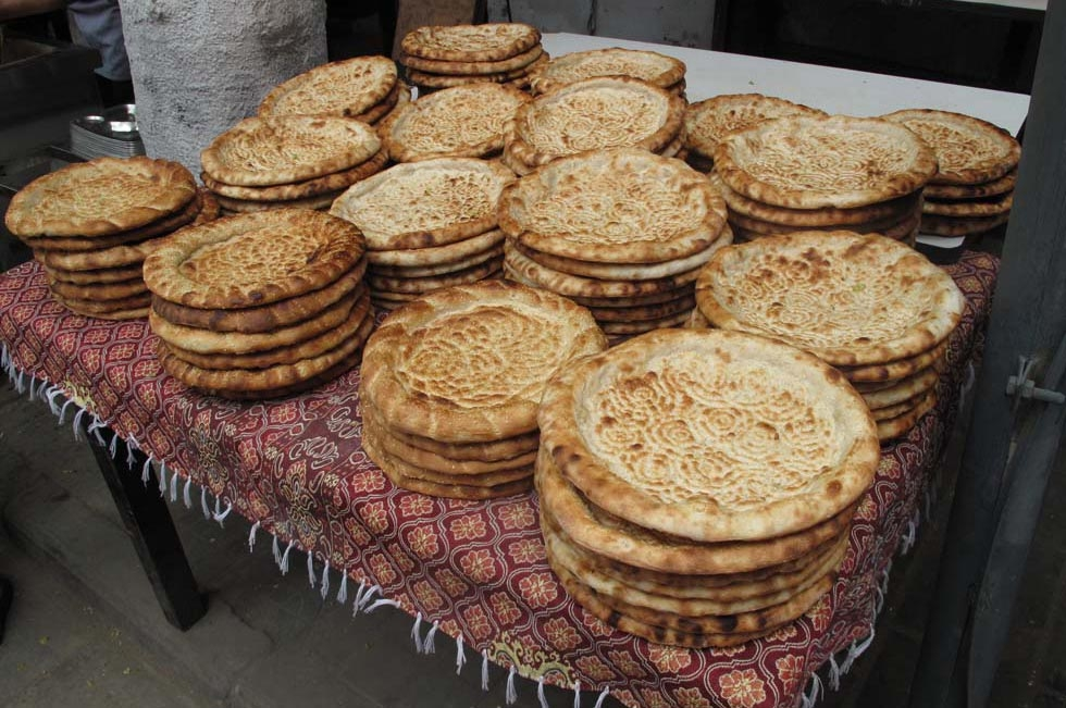 Imprinted flatbread from Xi'an Islamic Market in China. (Julia Dorff)