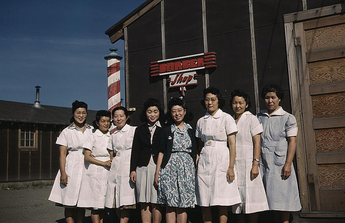 Japanese Americans at the Tule Lake Segregation Center in Newell, CA, ca. 1942