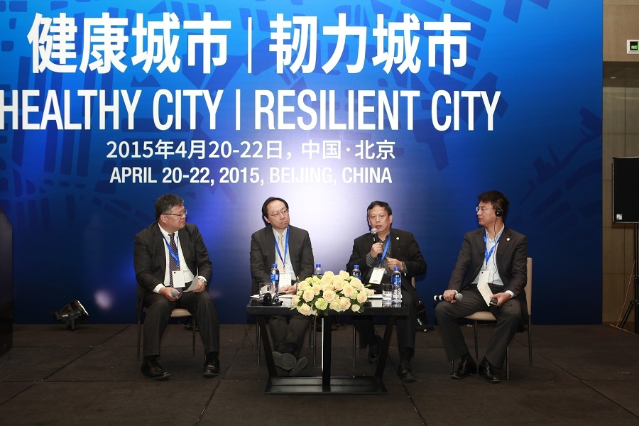 Ken Rhee, Albert Chan, Wu Jiang, Wang Haitao in dialogue at the Forum