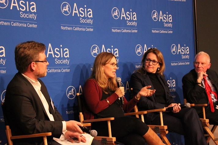 Karen Little (second from the left), Director of Development for US & Asia at Kiva, responds to a question from the audience. (Asia Society)