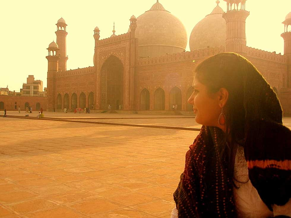 The photographer in her hometown, possibly scoping out another shot. (Ayesha Ali)