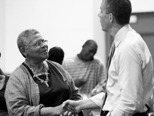 "Minnijean Brown Trickey (left), one of the ""Little Rock Nine,"" with Secretary Duncan. (ed.gov)"
