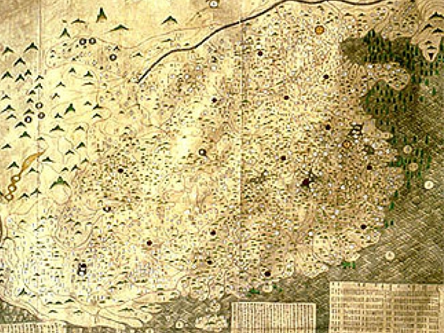 Map of Ming Dynasty China. National Library of China.