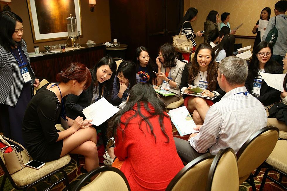 Conference attendees join a breakout session at the 2017 National Chinese Language Conference in Houston. (David Keith/David Keith Photography)