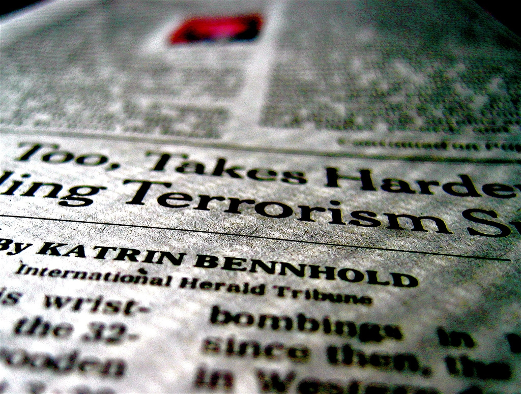 New York Times article on terrorism. (Susan NYC/Flickr)