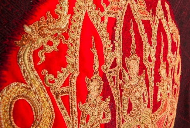"Details of ""L'Eclipse,"" an artwork used in Laotian Buddhist rituals (Art Radar Asia)"