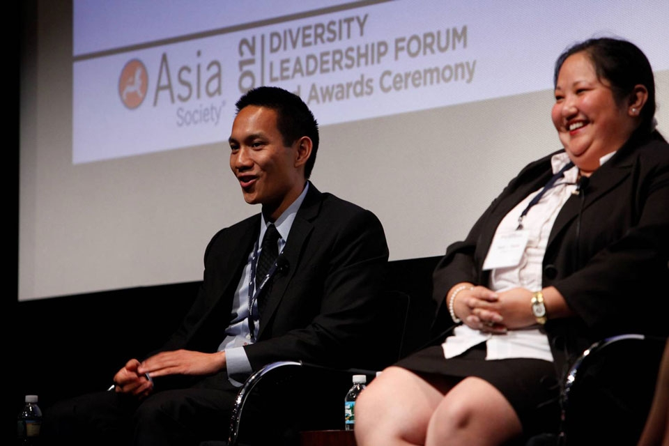 L to R: Michael Eng and Sarah Peacey