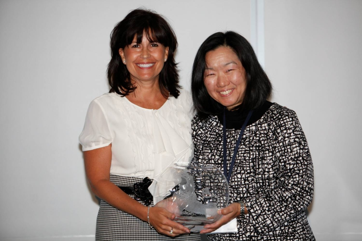 Kathy Hannan, National Managing Partner, Diversity and Corporate Responsibility at KPMG LLP, receiving the Award for Overall Best Employer for Asian Pacific Americans