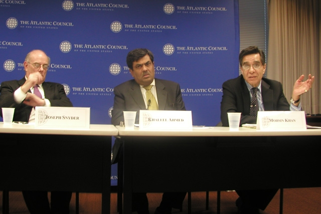 L to R: Joseph Snyder, Khaleel Ahmed, Mosin S. Khan (Asia Society)