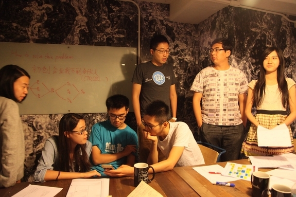 The Young Scholar participated in an afternoon start-up challenge led by a group of Chinese entrepreneurs working out of the Columbia Startup Lab. (Jenny Xu)