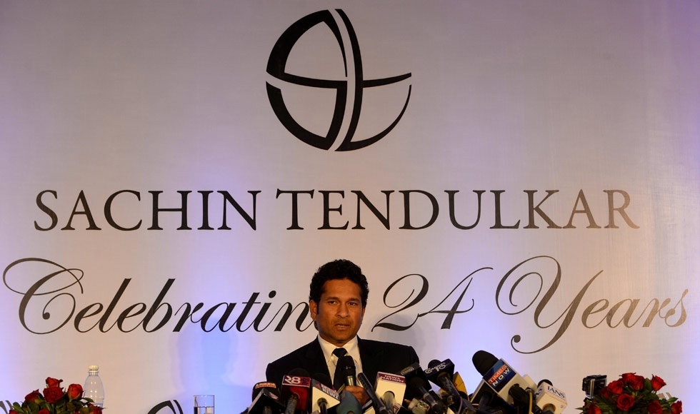 After playing cricket for 24 years, Sachin Tendulkar announces his retirement on November 16, 2013. He has broken numerous records, been named one of the world's richest athletes, and brought home the World Cup for India in 2011. (Indranil Mukherjee/AFP/Getty Images)