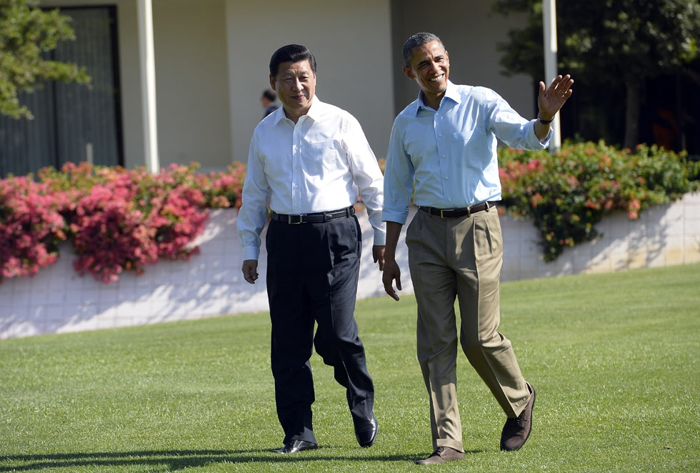 President Barack Obama and China's President Xi Jinping convened at Sunnylands in Rancho Mirage, California on June 8, 2013. Headlines were filled with speculations in the months leading up to the summit. (Jewel Samad/AFP/Getty Images)