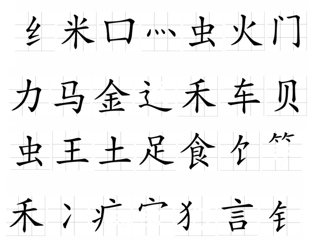 Radicals Reveal The Order Of Chinese Characters Asia Society