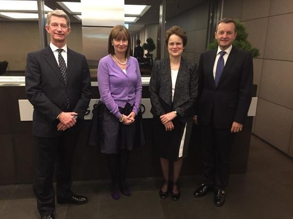 David Olsson, King & Wood Mallesons; Sue Kench, King & Wood Mallesons, H.E. Ms Frances Adamson, Australia's Ambassador to China and Stuart Fuller, King & Wood Mallesons