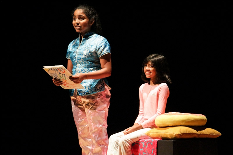 "Campers got to dazzle on the big stage as they performed a theatrical adaptation of ""Yeh Shen,"" a classic tale from Asia often referred to as the Chinese Cinderella. (Nikki Tripp)"