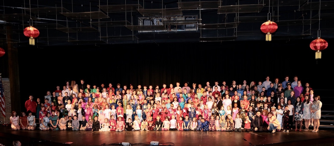 K–9 immersion students in St. Cloud concert performance.