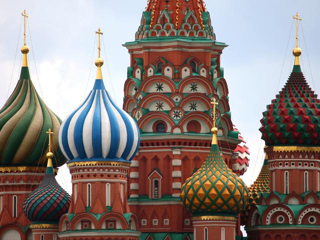 St. Basil's Cathedral in Moscow. (Punxutawneyphil/flickr)